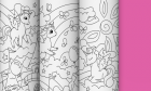 New giant coloring from O'Kroshka - Unicorns