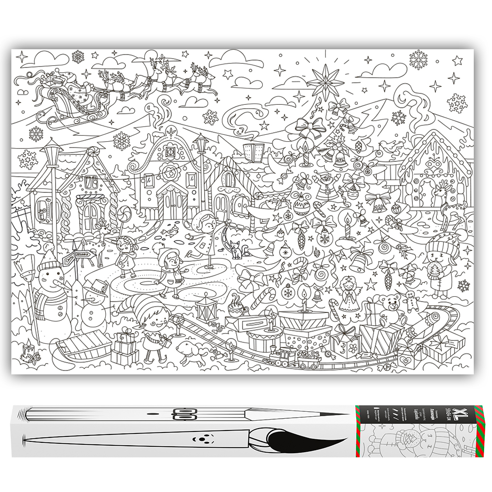Big giant coloring posters | O\'Kroshka Design & Play